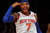 Breaking:  Carmelo Anthony done for the year!