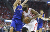 Harden, Rockets Close Out Choking Clippers