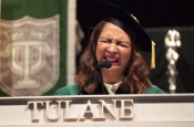 Maya Rudolph Singer National Anthem at Tulane Commencement 2015