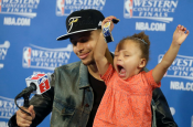 Stephen Curry Daughter Riley Returns for a Post-Game Encore Performance
