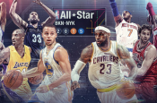 NBA ALL-STAR GAME WHO'S GOING TO BE THE MVP LEBRON JAMES EAST VS STEPHEN CURRY WEST?