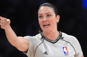 Rookie female referee giving away technical fouls like a mad woman