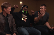 Conan gets Marshawn Lynch and Rob Gronkowski together to play MK X